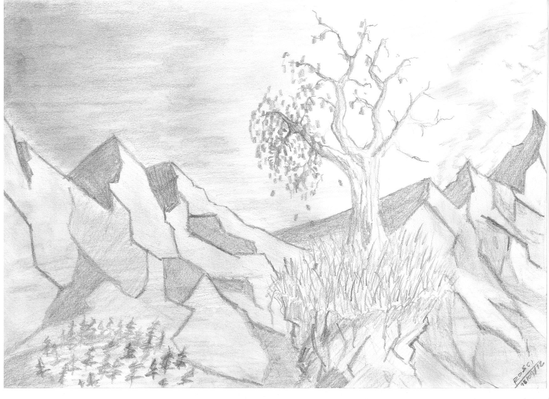 рисунки карандашом легкие и красивые пейзажи они нас будут