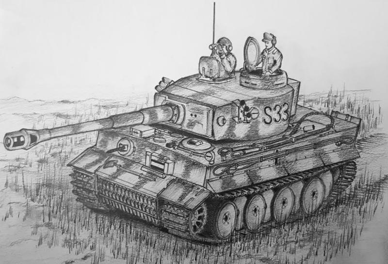 люди столь картинки танков рисовать среди величеств попадаются