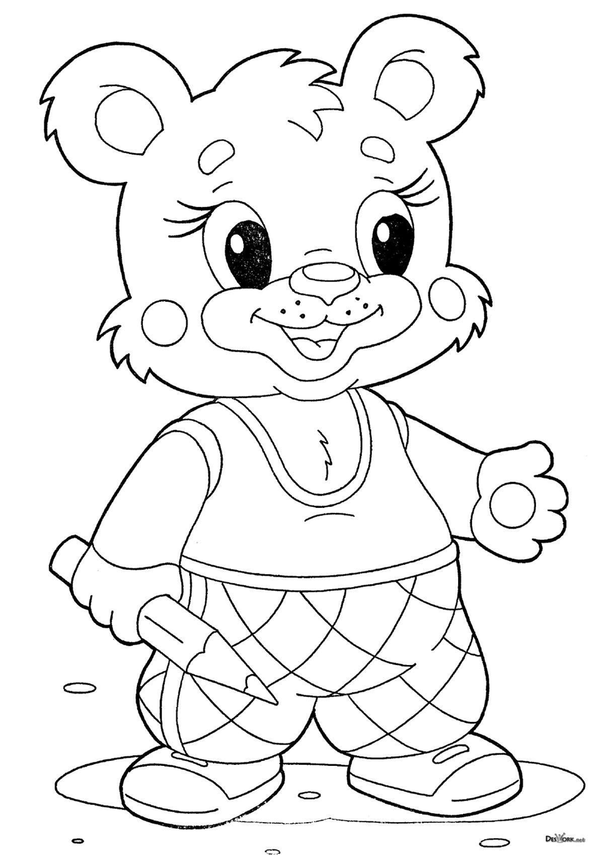 Картинки раскраски зверюшки для детей