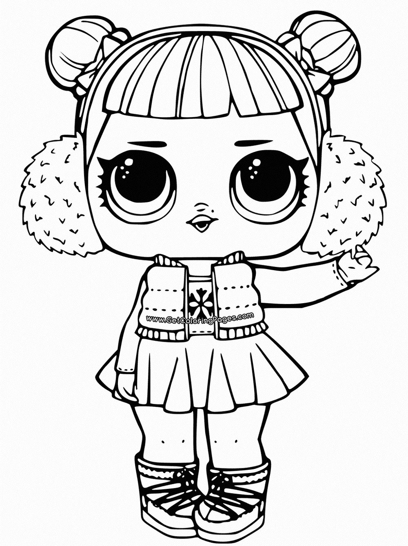 Кукла ЛОЛ раскраска распечатать