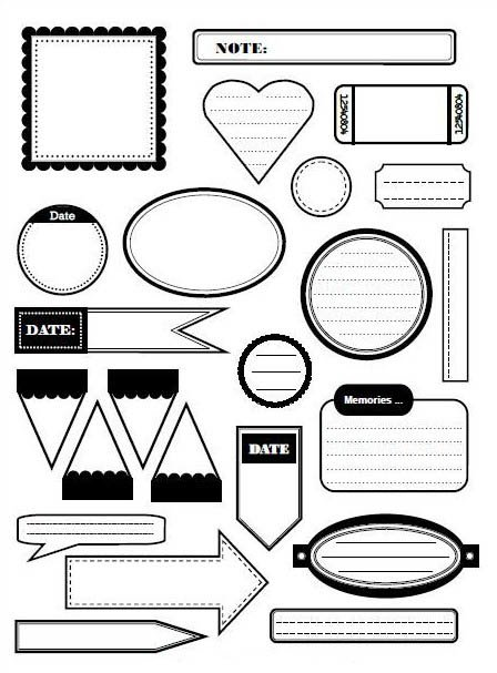 Картинки для ЛД черно-белые для распечатки