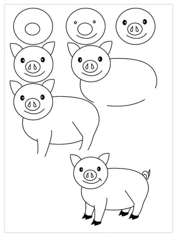 Легкие рисунки поэтапно карандашом