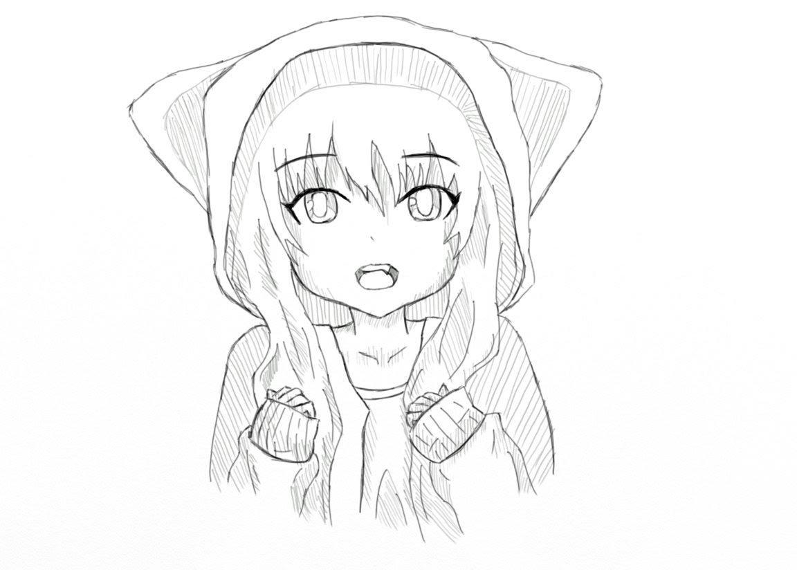 Картинки для начинающих карандашом аниме