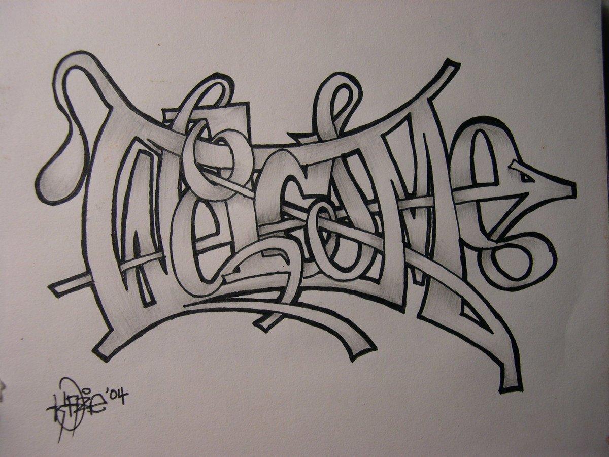 только рисовать граффити на бумаге карандашом картинками она
