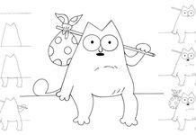 Котенок карандашом поэтапно