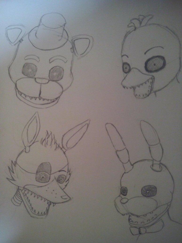 Картинки фнаф которые можно нарисовать