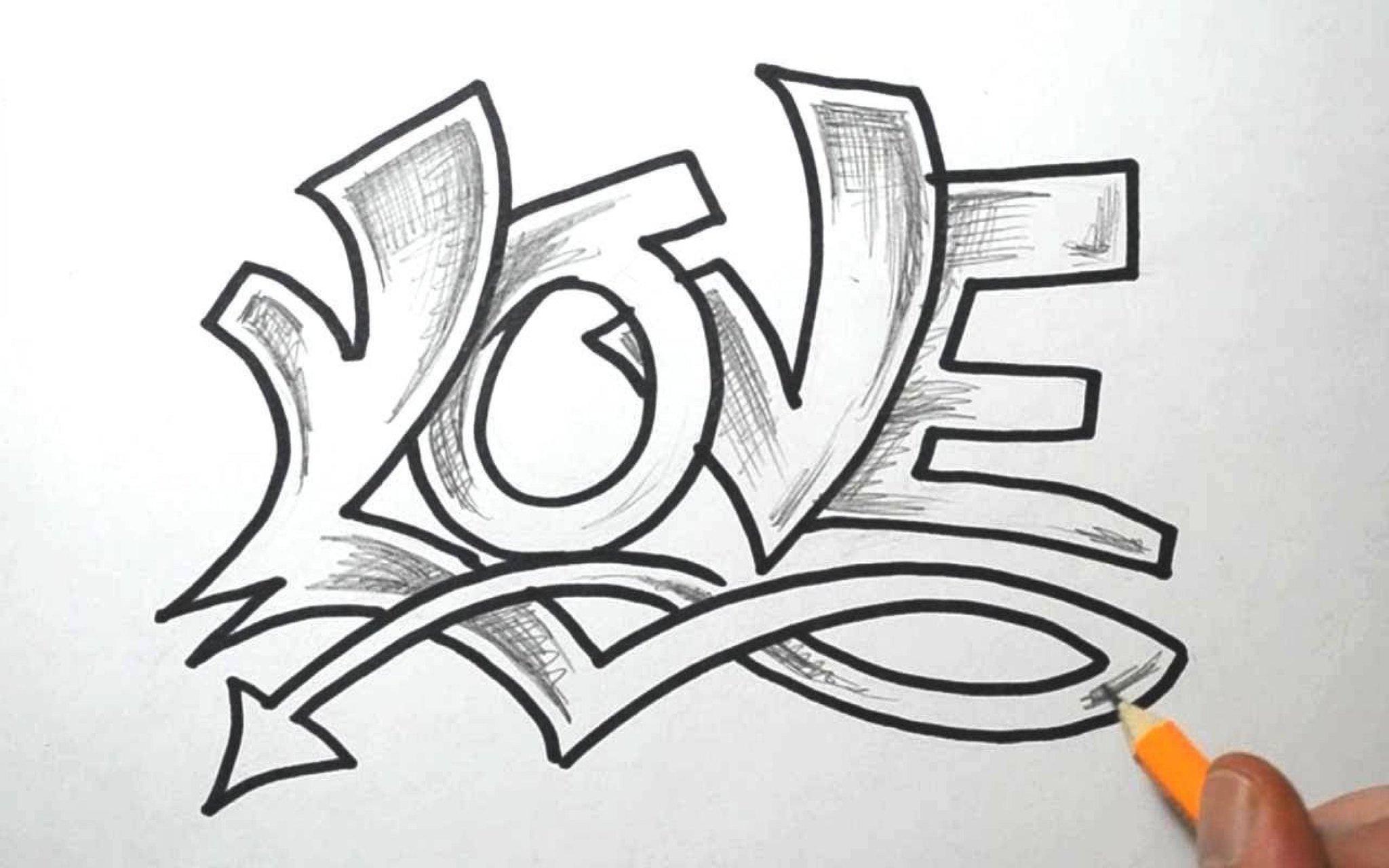 Легкие рисунки карандашом граффити имена рамках какого