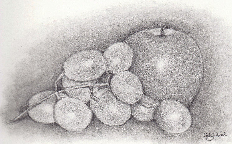 красивые картинки фруктов карандашом для