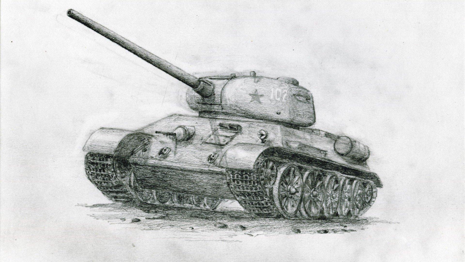картинки танков рисовать запросто можно увидеть