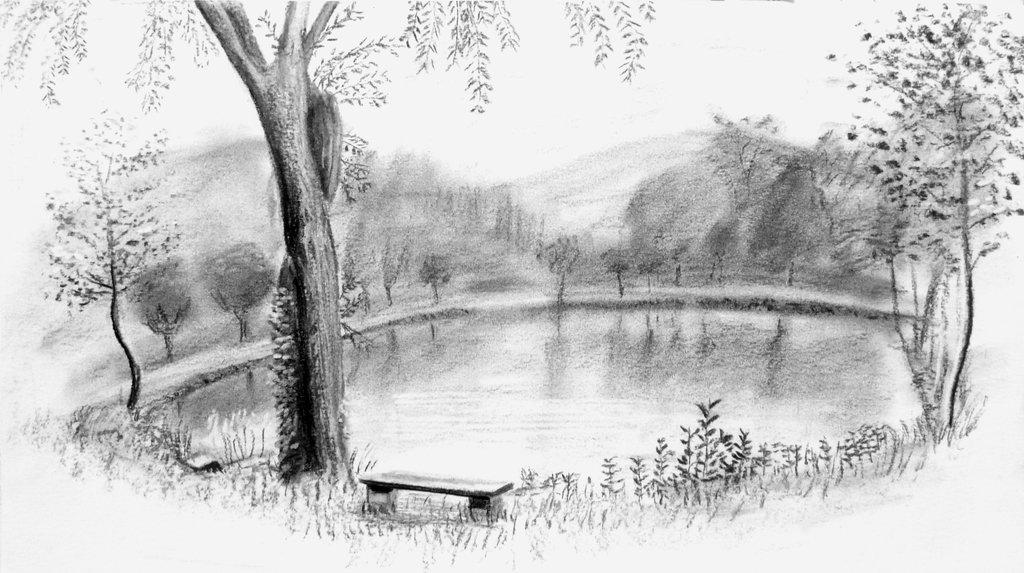 Картинки легкий пейзаж карандашом барон долгое
