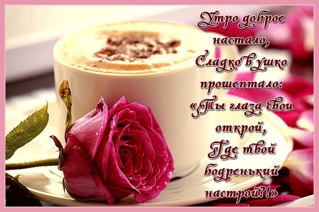 Красивую открытку с добрым утром девушке