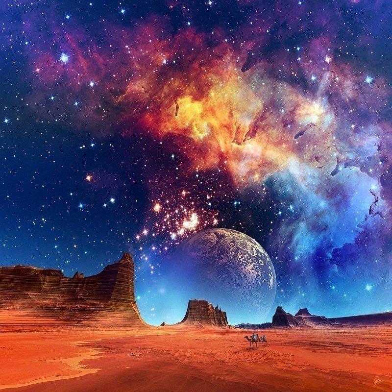 Космические пейзажи в картинках