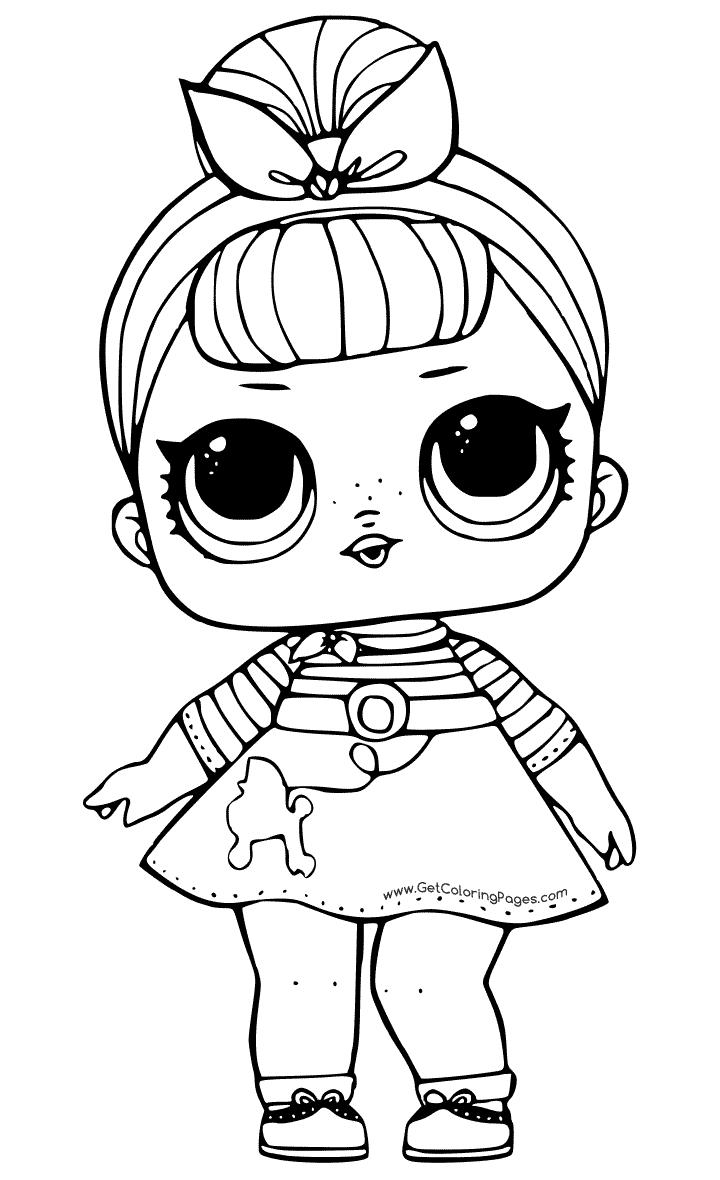 Черно-белая картинка кукла