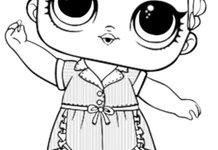 Куклы лол распечатать черно белые