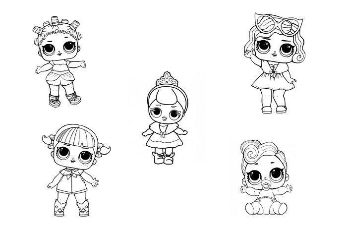 куклы лол 3 серия конфетти поп раскраска