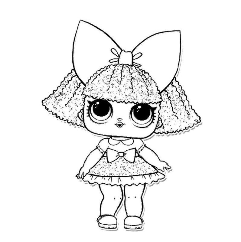 Куклы ЛОЛ 3 серия 2 волна конфетти поп - раскраска