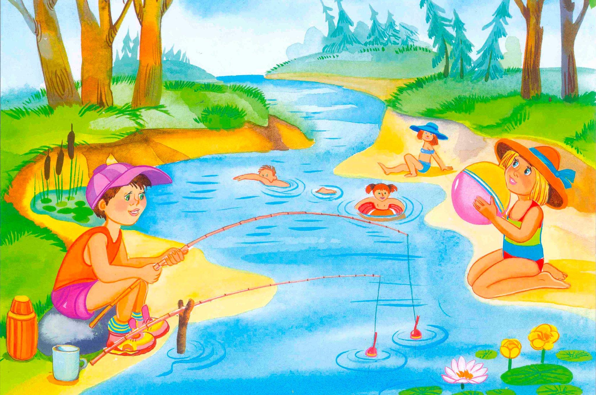 Картинки для дошкольников про лето