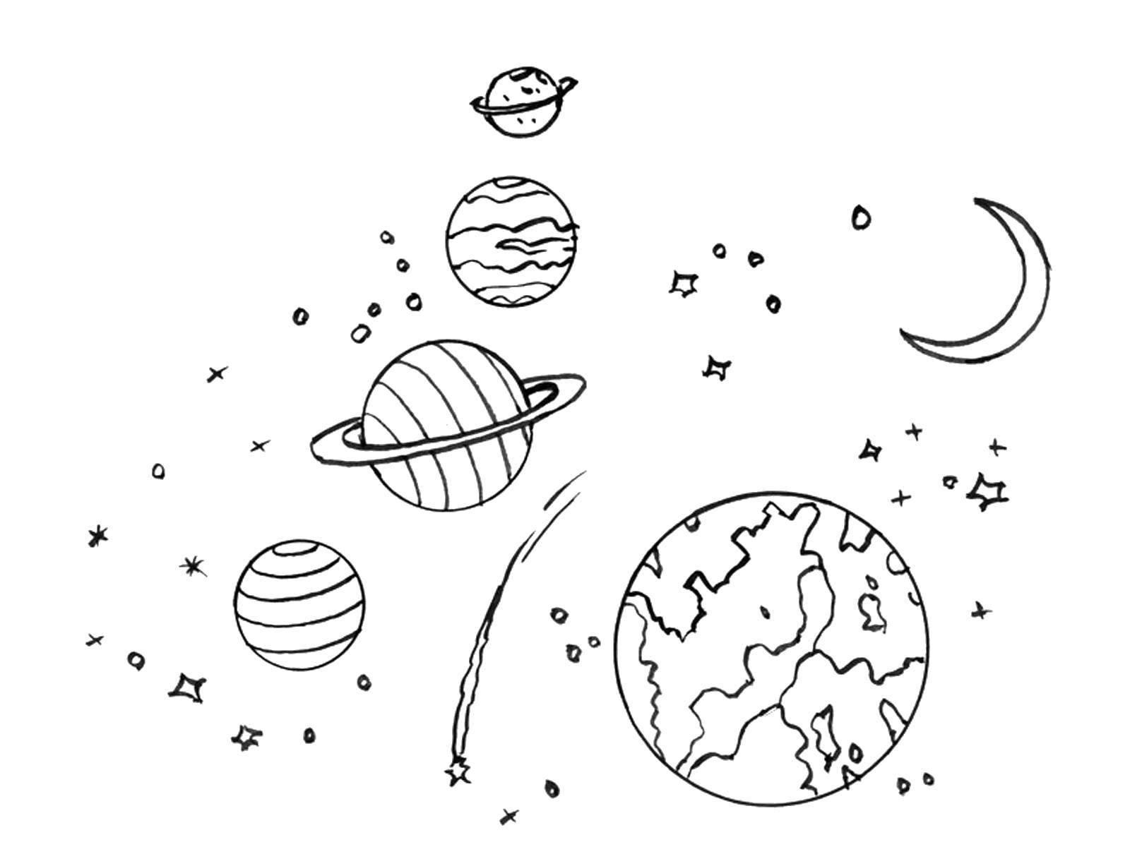 Картинки планет для детей распечатать