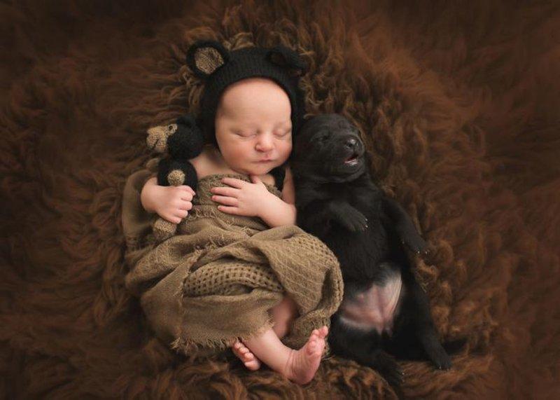 Малыш и щенок
