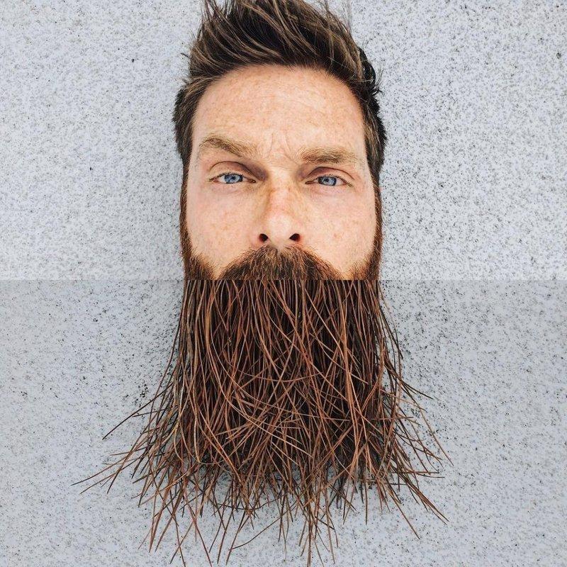 Борода из корней дерева