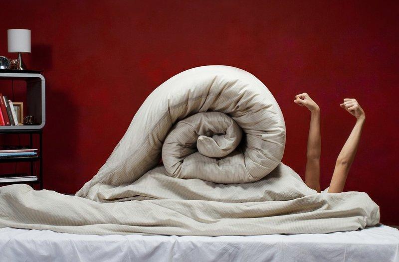Улитка из одеяла
