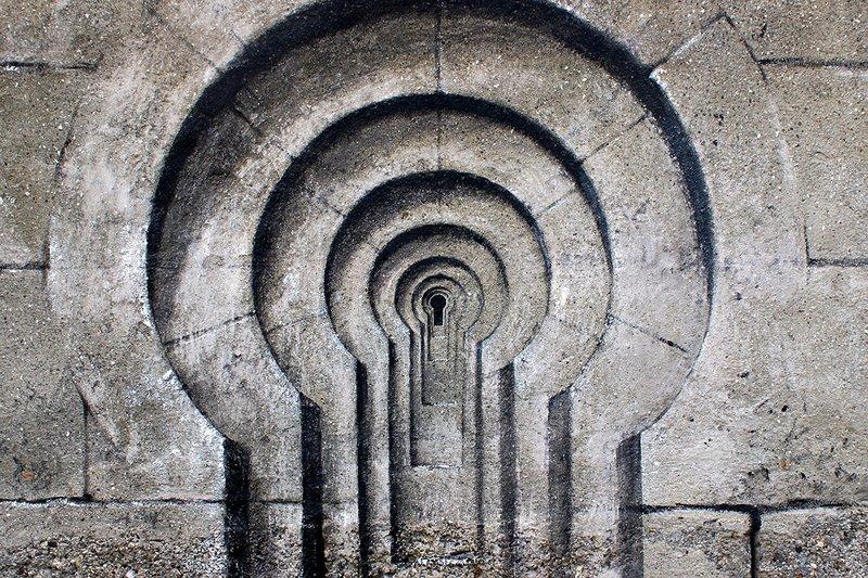 Фреска с оптической иллюзией