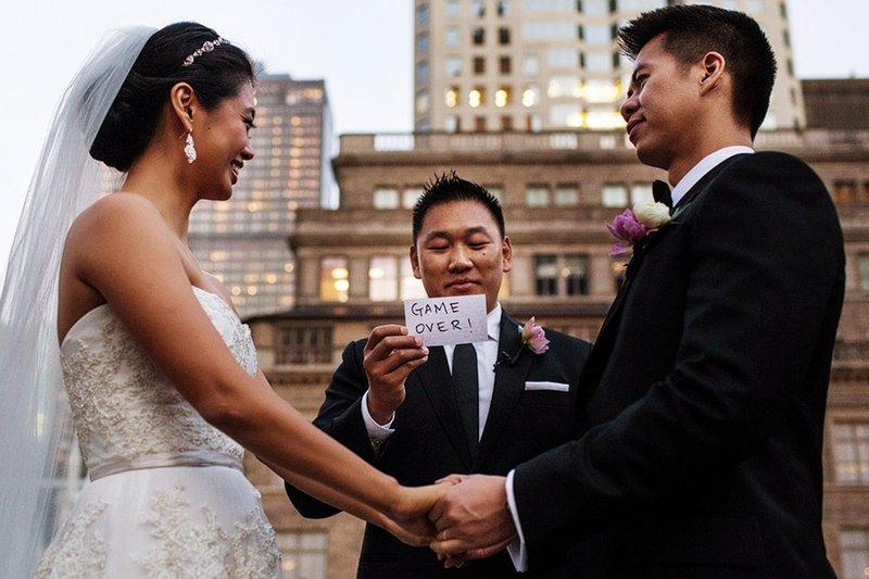 Смешное фото свадьбы
