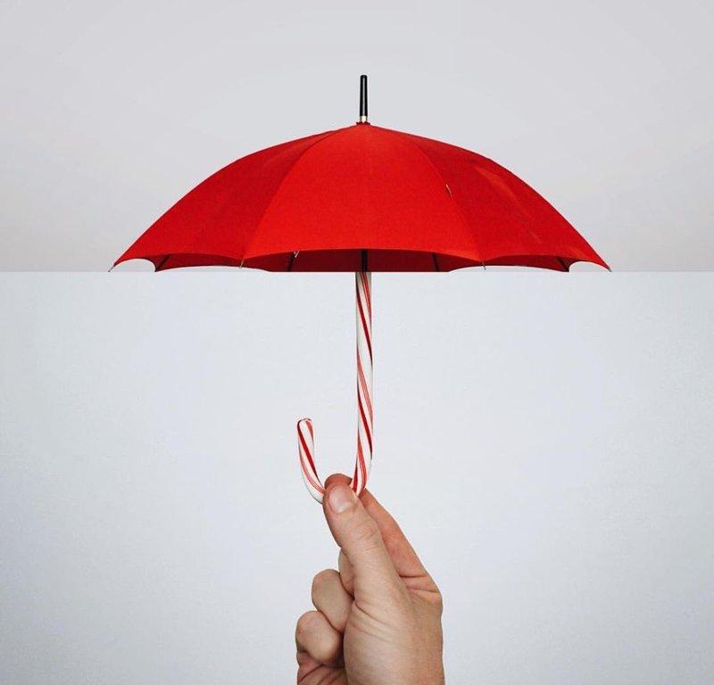 Зонтик-конфета