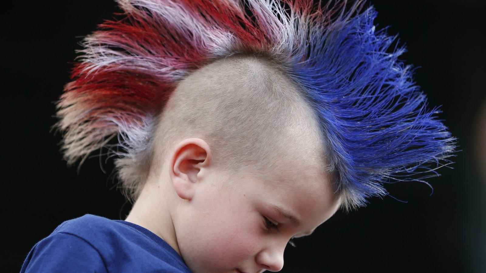 Фото синей головы прикол