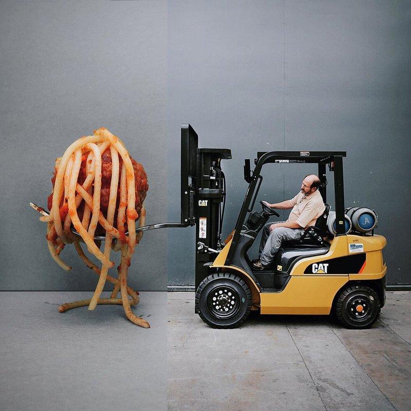 Спагетти в ковше