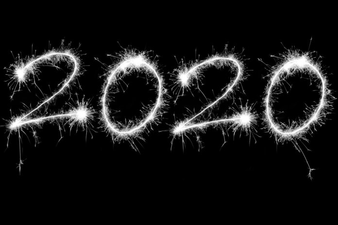 Надпись 2020 год