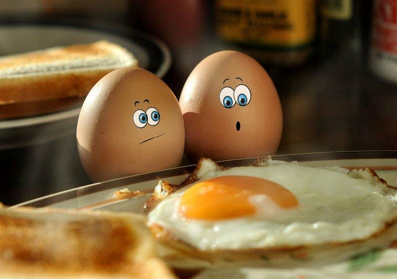 Два яйца и яичница