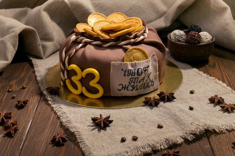 Торт на день рождение 33 года