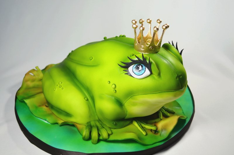 Торт в виде лягушки