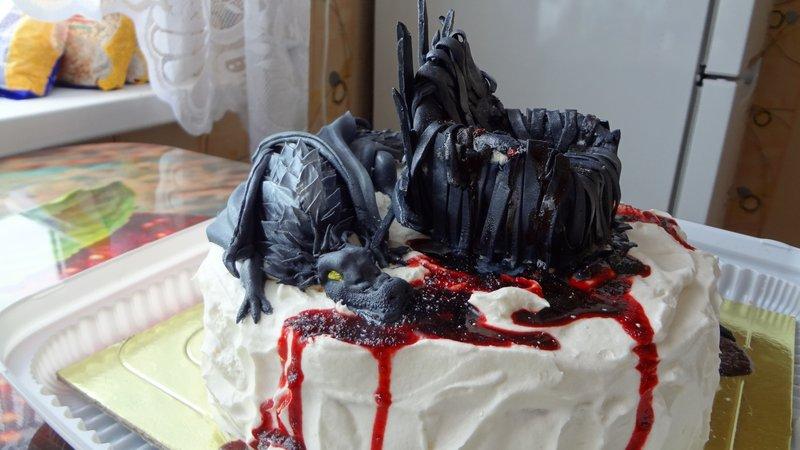 Торт в виде паука