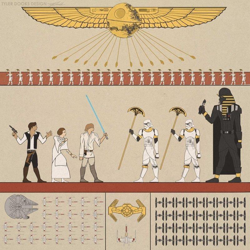 Звездные воины в египетском стиле