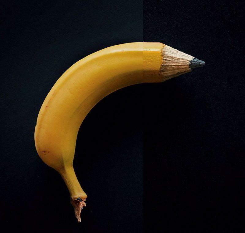 Банан-карандаш