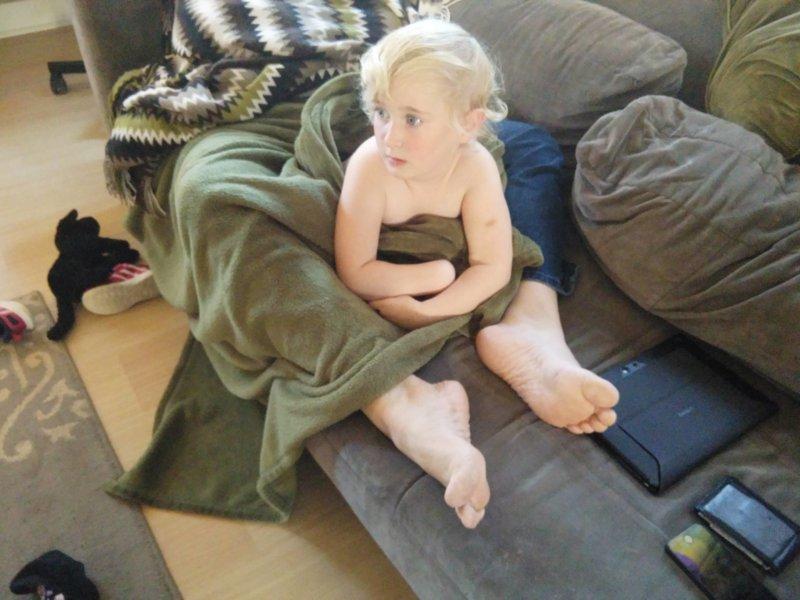 Малыш в одеяле