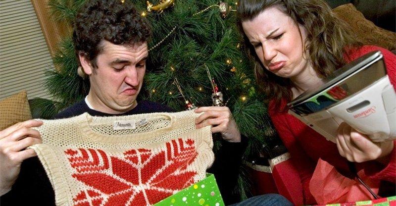 Пара с подарками