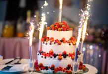 Торт на день рождение