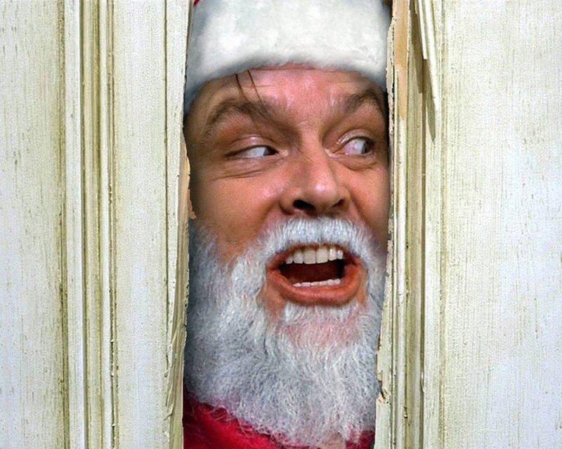 """Дед Мороз в стиле """"Сияние"""""""