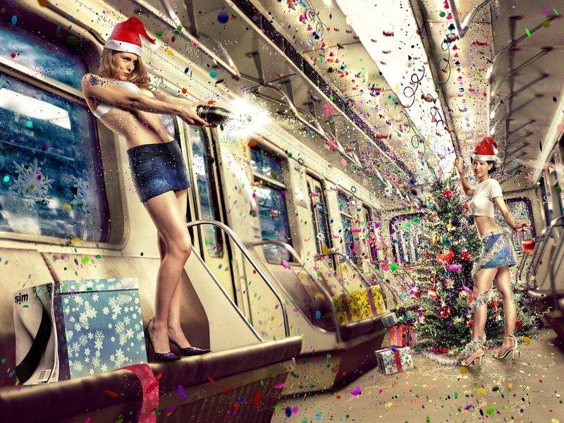 Новый год в метро