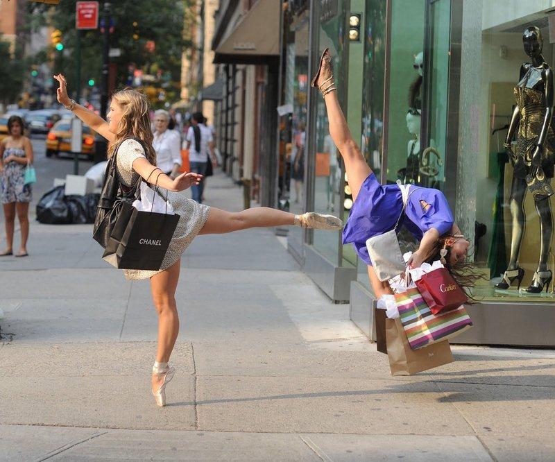 Балерины на шоппинге