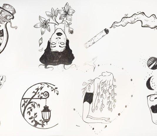 Картинки для срисовки в скетчбук