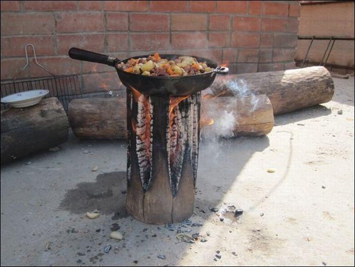 Печь для приготовления пищи на дровах своими руками 94
