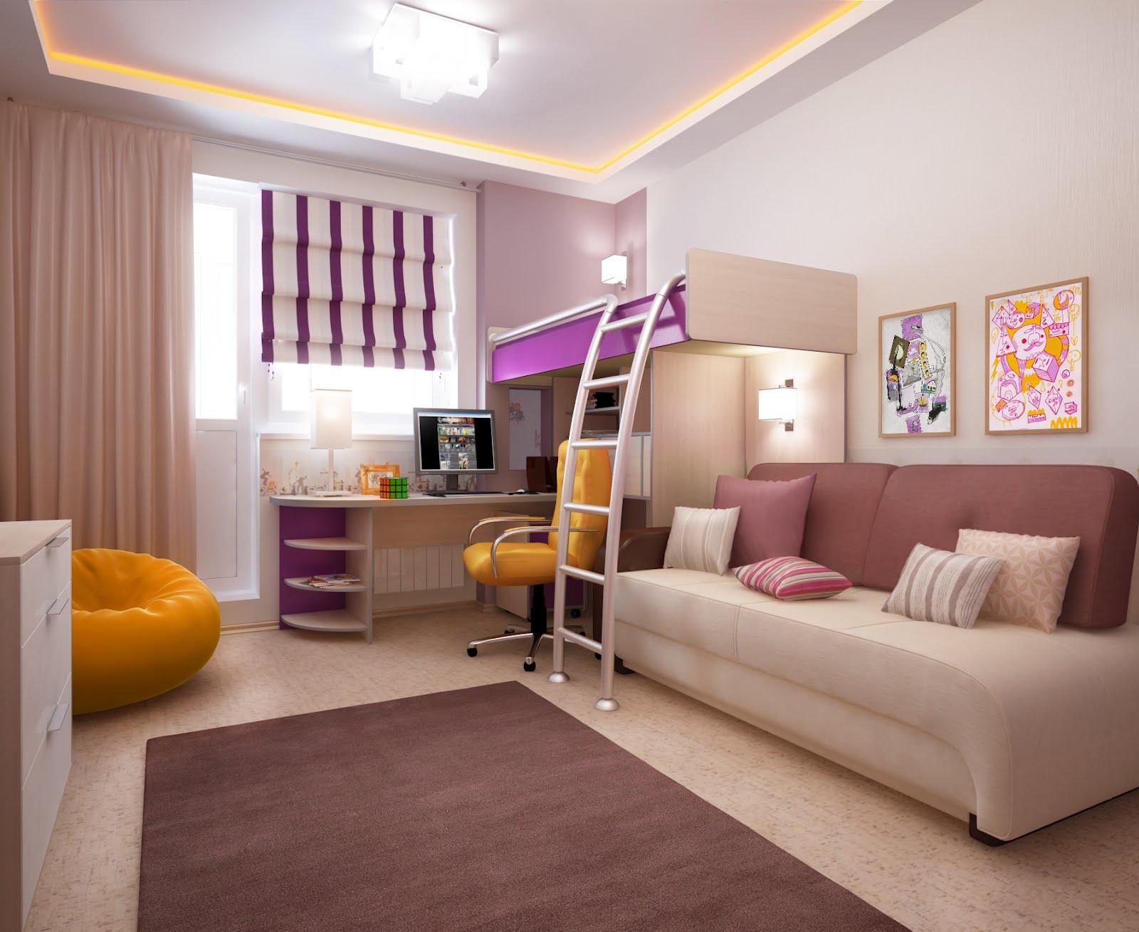 Дизайн детской комнаты. площадь 18 кв. м. фото kakoiremont.r.