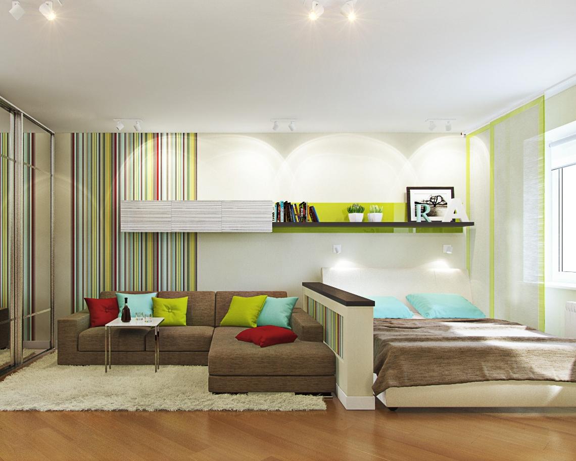 Гостиная детская в одной комнате дизайн бюджетный вариант