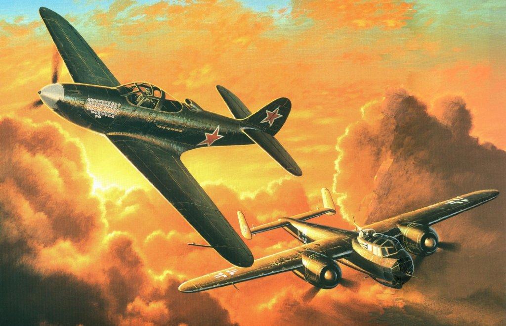 Бой самолетов рисунок