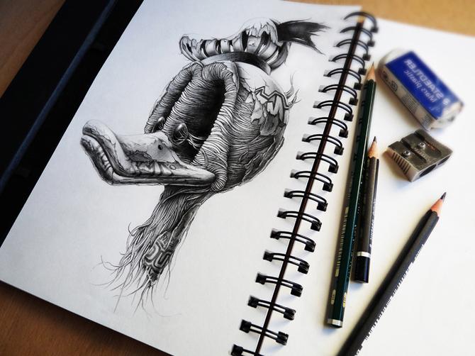 Картинка рисующего карандаша 185