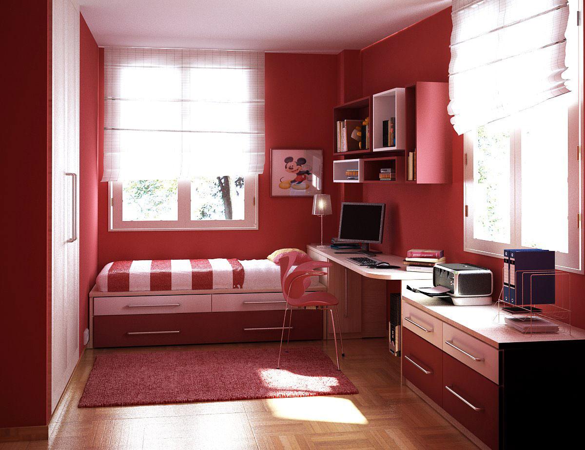 Дизайн комнаты 6 кв.м с окном для девушки